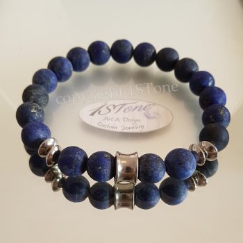 1ST-Bracelet-with-Lapis-Lazuli-matte-Stainless-Steel