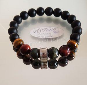 1STone Mens Bracelet 1ST Prestige 3 colors Tiger Eye The Conquerer