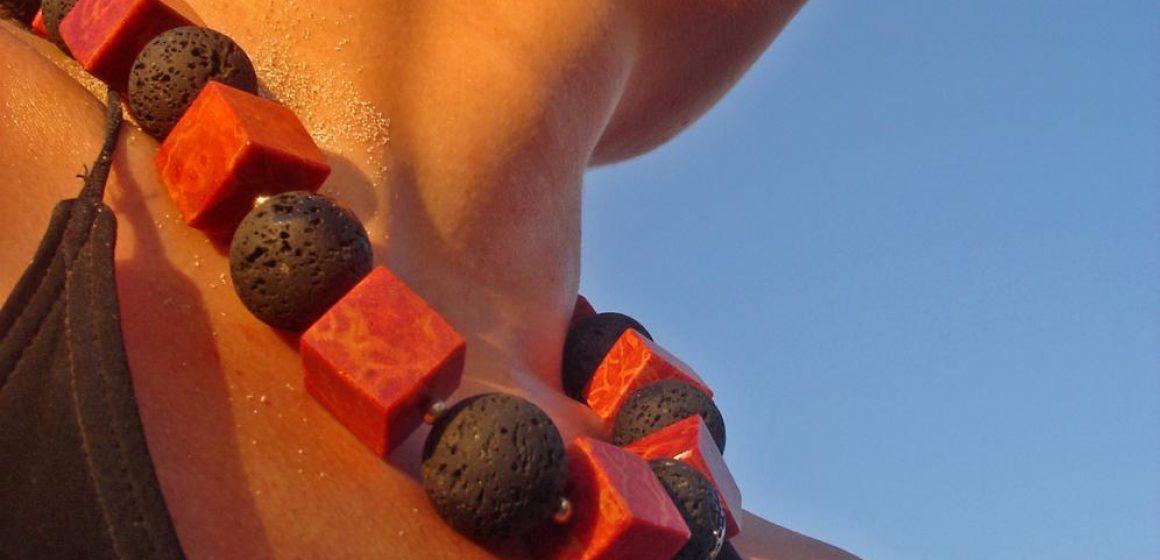 1STone Schmuck Design Lava Koralle Client