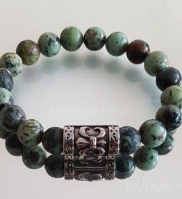 African-Turquoise-Tribal-Men´s-Premium-Comfort-Bracelet-by-1STone-Art-Design-Custom-Jewelry-Fuerteventura_