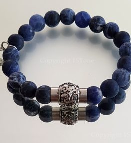 Magnetic Clasp Gemstone Bracelet Sodalite Namibia my.1stone Blue out of the Desert by 1STone Art & Design Custom Jewelry Fuerteventura