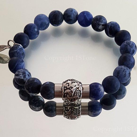 Magnetic Clasp Gemstone Bracelet Sodalite Namibia my.1stone Blue out of the Desert by 1STone Art & Design Custom Jewelry Fuerteventura