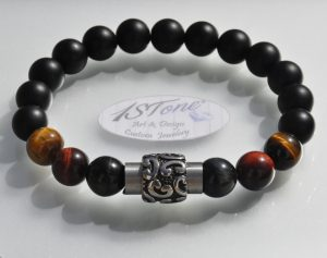 The Conquerer Bracelet 3 col Tigers Eye Stainless Steel Magnetic Clasp my1STone by 1STone Art & Design Custom Jewelry Fuerteventura-980x