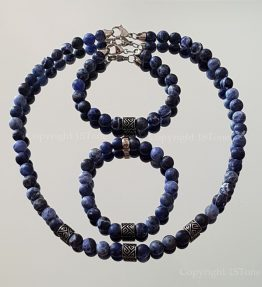 1ST Leader´s Necklace custom-made for Man Gemstone Sodalite Namibia AA Grade by 1STone Art & Design Custom Jewelry Fuerteventura_193131