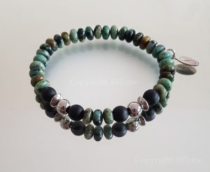 African Turquoise custom-made Gemstone Bracelet for Her & Him Premium Comfort by 1STone Art & Design Custom Jewelry Fuerteventura