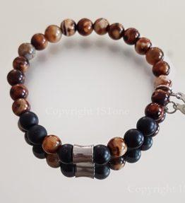 Brown Agate custom-made Gemstone Bracelet for Her & Him Premium Comfort by 1STone Art & Design Custom Jewelry Fuerteventura