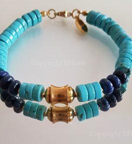 Chief-of-Legends-custom-made-Gemstone-Bracelet-Turquoise-Dumortierit-by-1STone-Art-Design-Custom-Jewelry-Fuerteventura