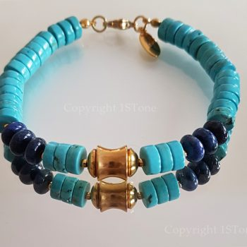Chief-of-Legends-custom-made-Gemstone-Bracelet-Turquoise-Dumortierit-by-1STone-Art-Design-Custom-Jewelry-Fuerteventura
