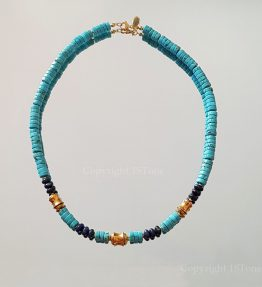 Chief-of-Legends-custom-made-Gemstone-Necklace-Turquoise-Dumortierit-by-1STone-Art-Design-Custom-Jewelry-Fuerteventura