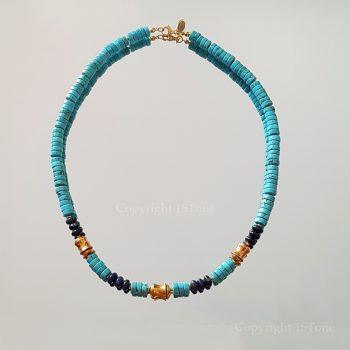 Chief-of-Legends-custom-made-Gemstone-Necklace-Turquoise-Dumortierit-by-1STone-Art-Design-Custom-Jewelry-Fuerteventura