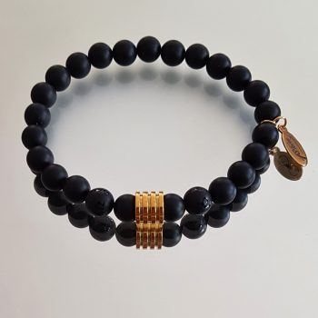 Gemstone Bracelet for Her & Him Tibet Black Gold custom-made by 1STone Art & Design Custom Jewelry Fuerteventura