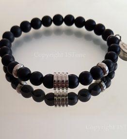 The Dark Night Premium Comfort custom-made Gemstone Bracelet for Her & Him by 1STone Art & Design Custom Jewelry Fuerteventura