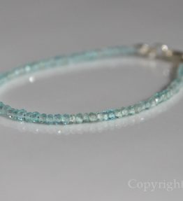 High Sky Blue Ladie Delicate 2mm faceted skyblue Apatite Gemstone Bracelet by 1STone Art & Design Custom Jewelry