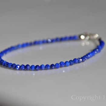 True Blue Ladies 3mm delicate faceted Lapis Lazuli Bracelet custom-made by 1STone Art & Design Custom Jewelry Fuerteventura